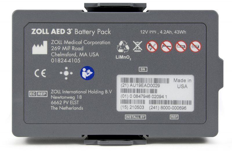 ZOLL 3 OED Yeniden Şarj-Edilemeyen Batarya